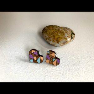 Wooden heart earrings ❤️